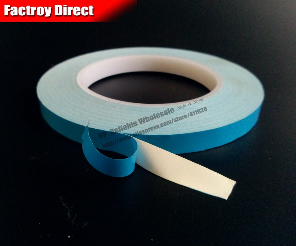 (0.25mm thick) 6mm*25M Two Side Adhesive Heat Conduct Thermal Tape for HeatSink LED Light Panel Isolate Bond men cut and sew panel tape side tee