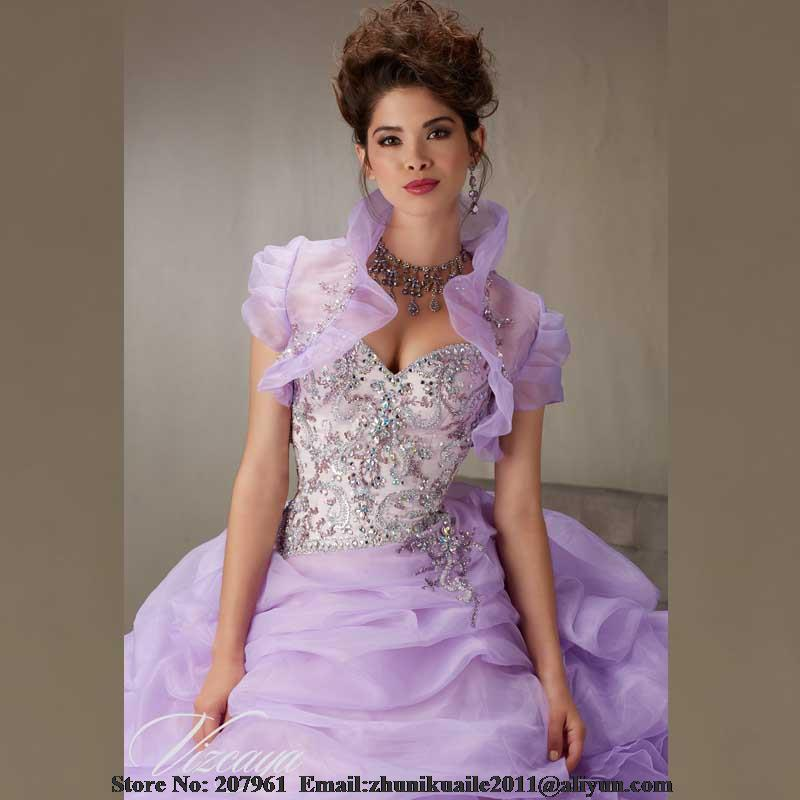 fa09c294b6d 2017 New Beads Sweetheart Tulle Lavender Quinceanera Dresses with Removable  straps Ball Gown Sweet 16 dresses vestido 15 anos-in Quinceanera Dresses  from ...