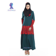 Arabic fashion clothes lace long abayas for women turkish abaya islamic clothing new plus size muslim dresses in malaysia