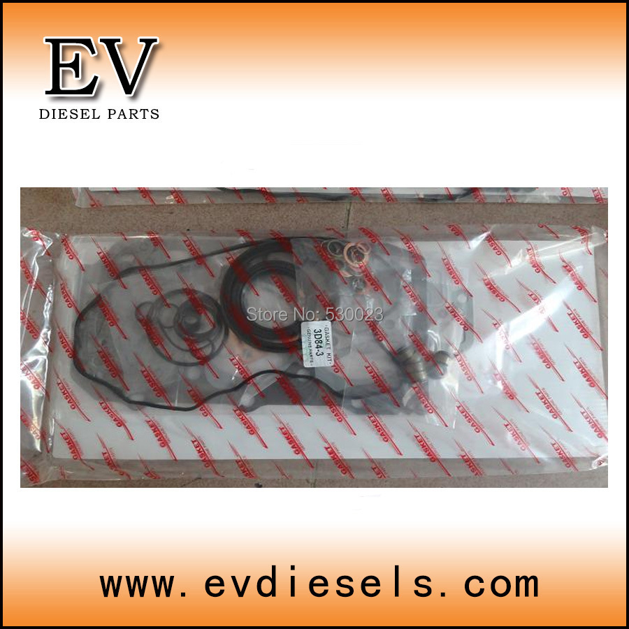 Engine Gasket kit for Yanmar 3D84 2 3D84 3 3TNE84 3TN84 full gasket kit cylinder head