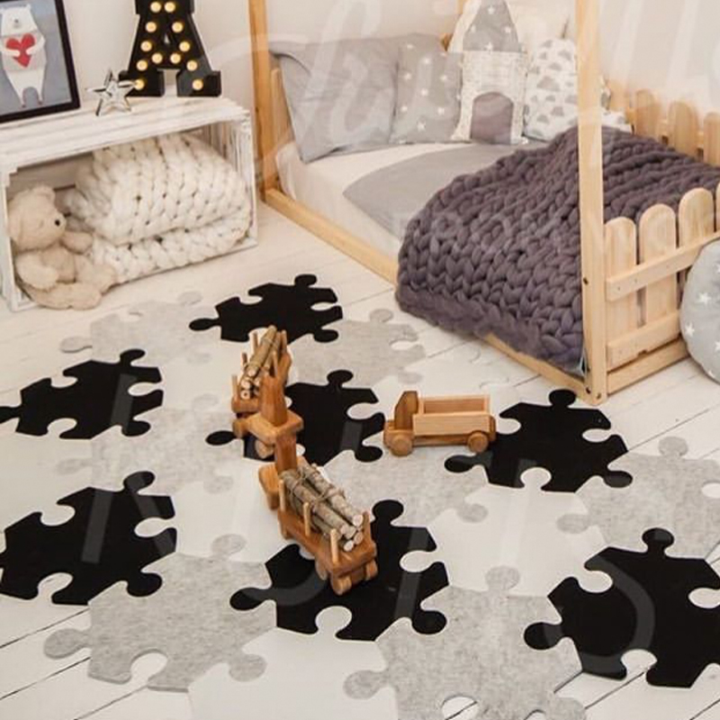 Meitoku Baby EVA Foam Puzzle Play Mat/ Polygon Interlocking Exercise Floor Carpet Tiles, Rug For Kids   6pc In A Bag