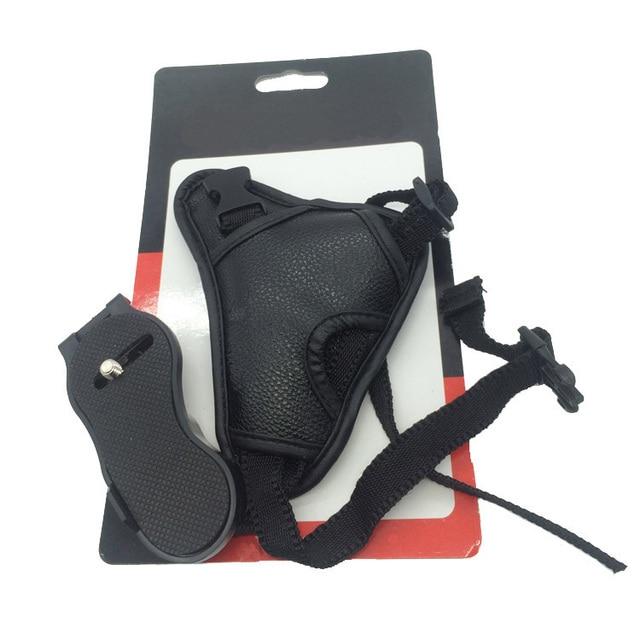 10piece camera  Black Leather Soft Wrist Hand strap  for Canon SLR/DSLR