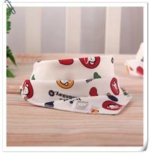 Baby bibs High quality triangl double layers cotton baberos Cartoon Character Animal bandana dribble bibs
