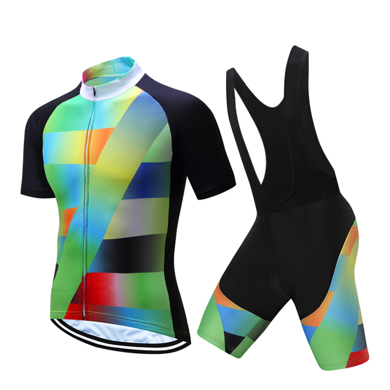 Summer Men's Bicycle Jersey Kit Mountain Bike Clothing Uniform Sets 2018 Maillot Cycling Clothes Male Triathlon Suit Dress Wear mountain bike four perlin disc hubs 32 holes high quality lightweight flexible rotation bicycle hubs bzh002