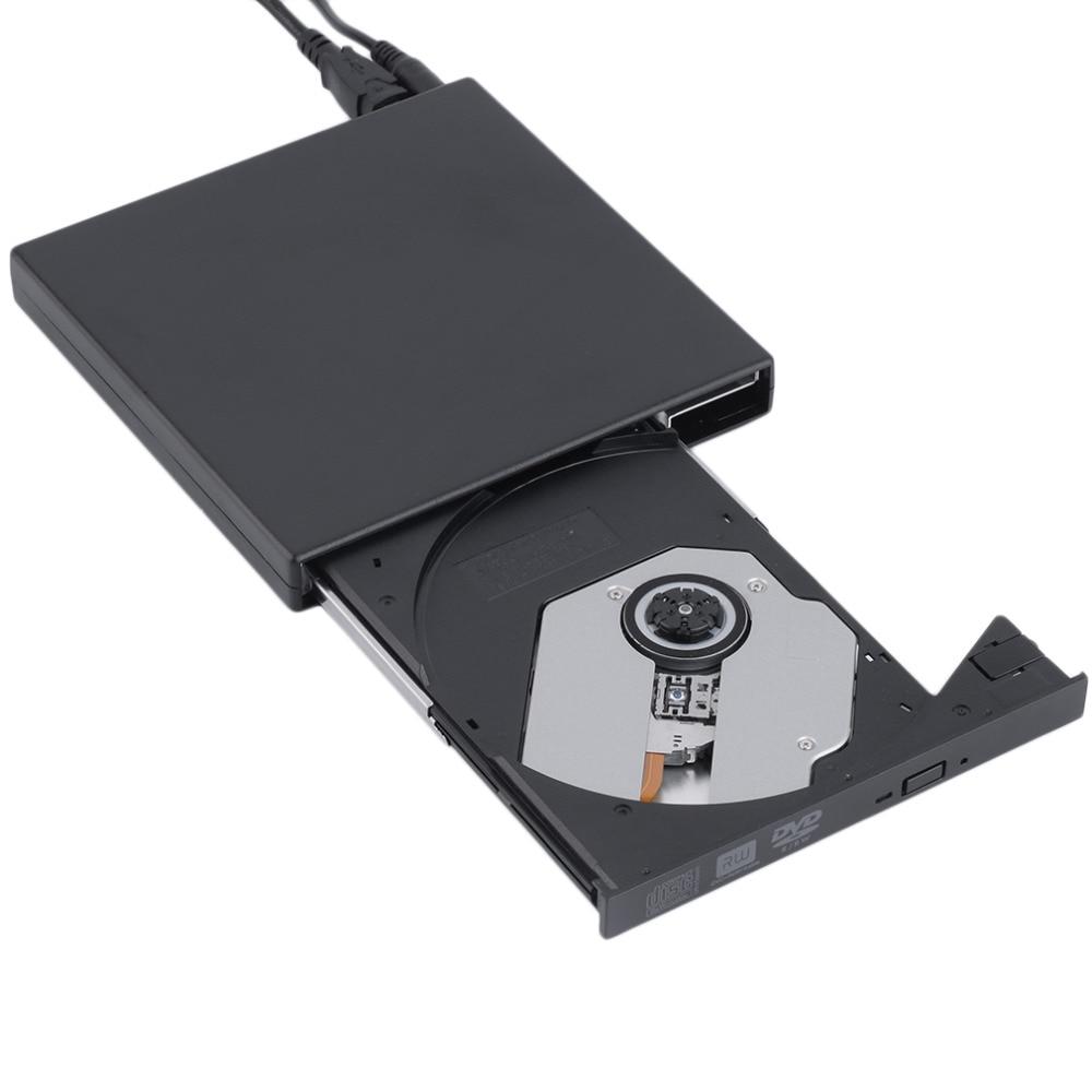 New black USB 2.0 External CD+-RW DVD+-RW DVD-RAM Burner Drive Writer For Laptop PC Wholesale