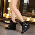 2017 Women Invisible Heel Isabel Fashion Snow Botas Multi-Colors Height Increasing Casual Shoes Women Brand Design Ankle Booties