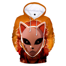 The latest anime 2019 casual tops Ghost Blade3D hooded sweatshirt men's women's sunglasses