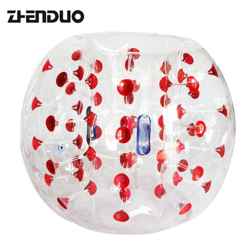 ZhenDuo Toys Human Size Soccer Ball Bubble, PVC Inflatable Bumper Ball for Sports Games