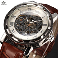 2016 SEWOR Luxury Brand Mechanical Watch Men Fashion Casual Clock Leather Mens Watches Skeleton Watch Montre Homme Relogios