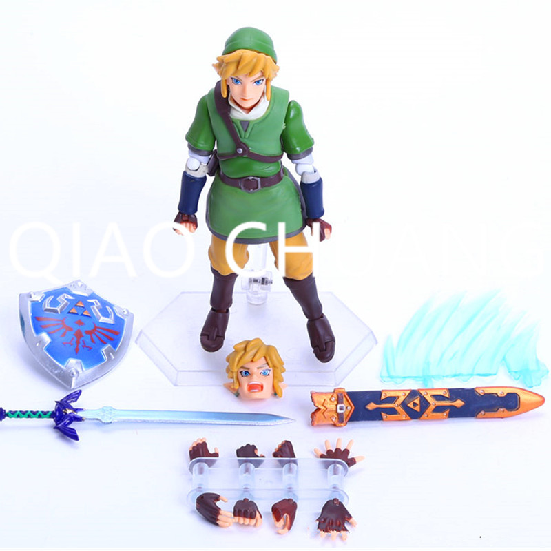 The Legend of Zelda Skyward Sword Link Boxes 14cm PVC Action Figure Collection Model Doll Toy Gift Y59 lis the legend of zelda 2 a link between worlds link figma 284 pvc action figure collectible model kids toys doll 14cm