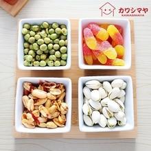 Japan Stil Zakka Kreative weißen keramik pocelain platz schalen * 4 bambus-fach * 1 snack trockenen obstschalen geschirr schüssel einstellung