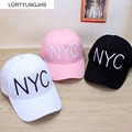 NYC Letter Fashion Baseball Cap Women's Three Colors Spring and  Autumn Bent Eaves Cap Shade Hip-Hop Hat  Baseball Cap