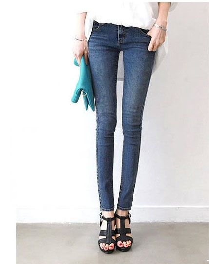 Fashion 2017 Hot style Spring Autumn Womens jeans Pencil Pants Femme Denim Elastic Casual Slim Skinny