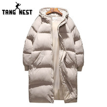 TANGNEST, длинное стильное пальто, Повседневная Толстая зимняя мужская куртка, 2 цвета, теплая, хорошее качество, мужская куртка, большие размеры 5XL MWM1694