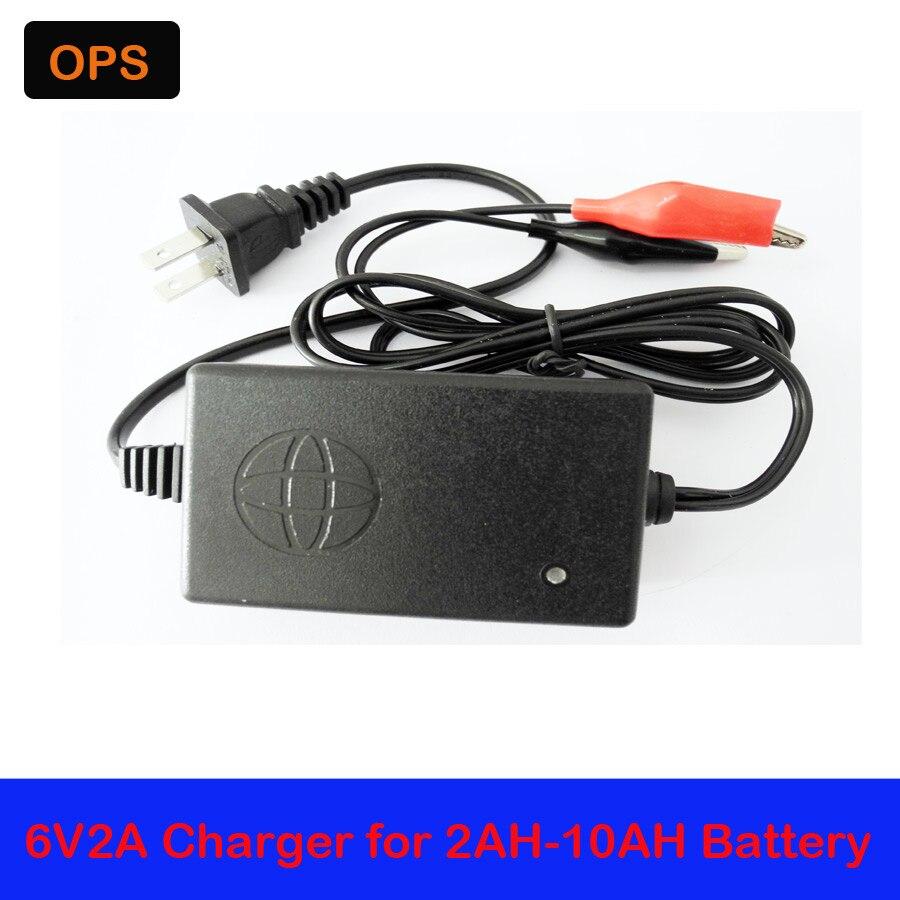 ОПС для 6v7ah-20ah батареи Лучшая цена ac 100-240 В для DC 6 В <font><b>2A</b></font> 2000mA Импульсные блоки питания адаптер Зарядное устройство нам штекер вольт
