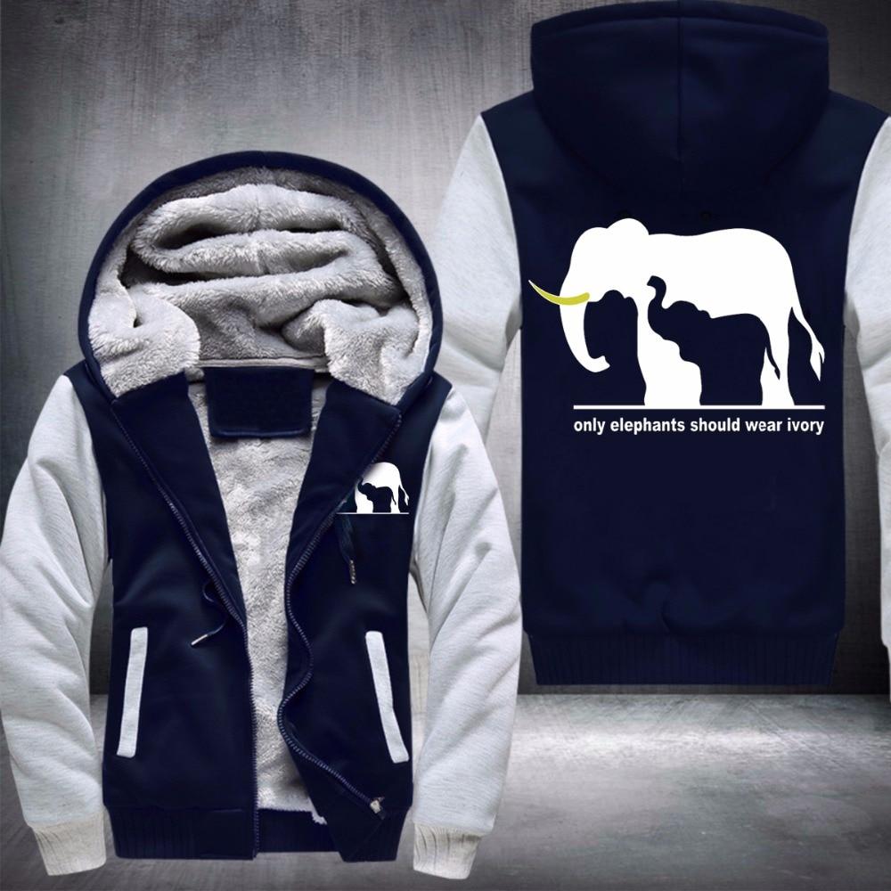 only Elephant should wear ivory WARM FLEECE COAT Jacket men Stiles Stilinski Hoodie Thicken Zip up Tops USA EU size Plus size