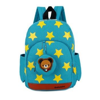 2020 Children Character Backpack Rucksack School Bag Personalised Star Pattern Zipper Kid Book 4 Colors New 1