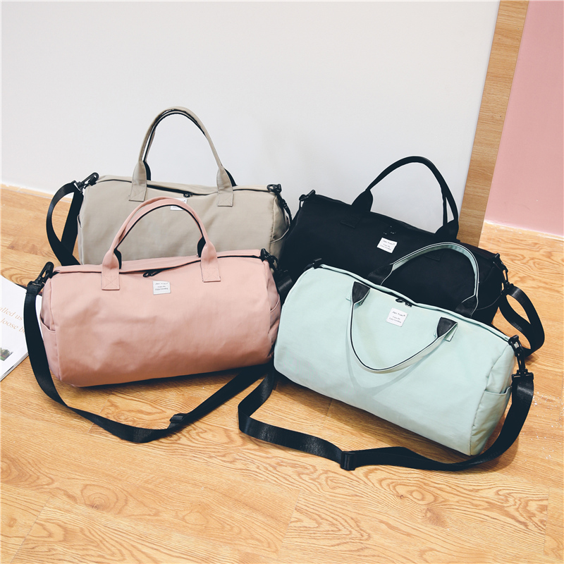 f4f1b6274c40 Aliexpress.com   Buy 2018 Top Female Sports Nylon Gym Bags Lady s Fitness  Yoga Bag Handbags for Women Over the Shoulder Fancy Travel Bag Pink XA507WD  from ...