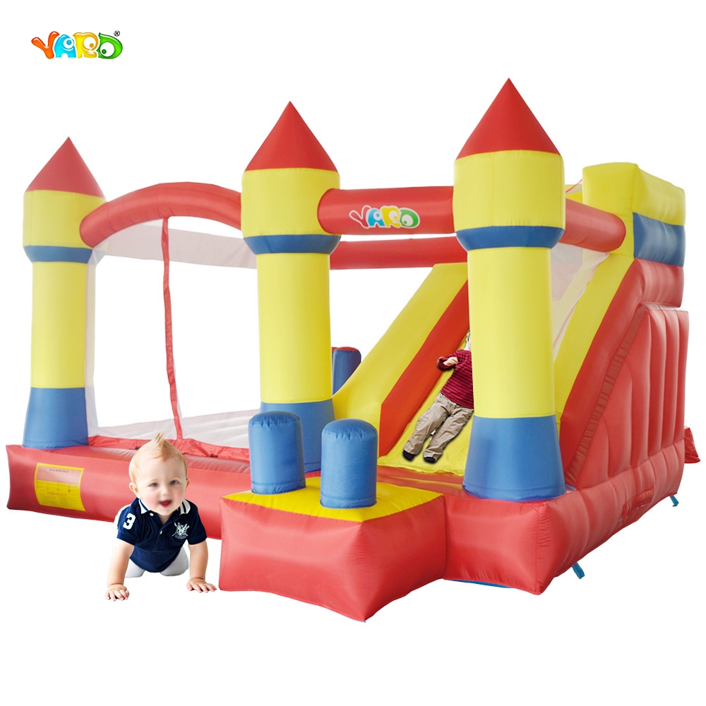 YARD Free Shipping Fantastic Bouncy Castle Inflatable Bouncer Jumper 6 in 1 All-Round Obstacle Combo For Kids Exercise yard free shipping bouncy dream castle inflatable jumper bouncer 6 in 1 all round obstacle combo for home use