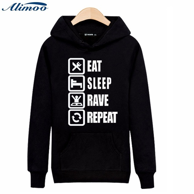 Alimoo Instruction Symbol Mens Hoodies and Sweatshirts 2016 for Young Men Brand Cotton Lovers Hooded Sweatshirt Plus Size 3XL
