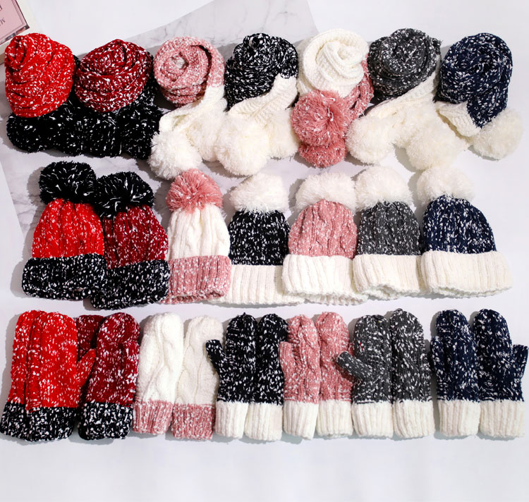at and scarf set hat and scarf women\`s knitted hat and scarf for women Hat & Glove Sets hat and scarf set winter hat and scarf sets (3)