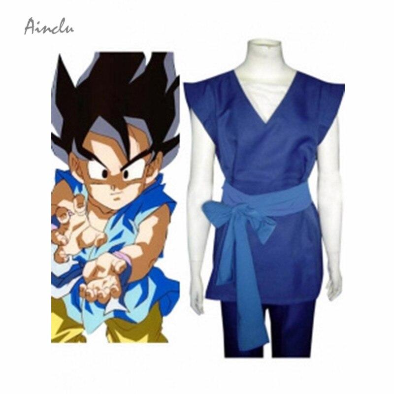 Ainclu Top Selling Goku Cosplay Costume Dragon Ball Son Goku Halloween Cosplay Costume Kids Halloween Costumes Adult Costume