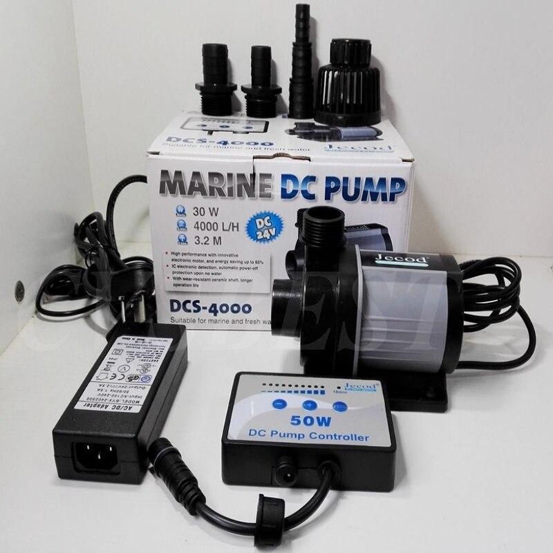 4000l/h Jecod/Jebao DCS-4000 Contrôlable DC Retour Pompe À Eau Submersible Pompe À Débit Variable pour Marine Aquarium Récifal Fish Tank