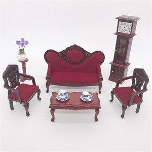 Кукольный домик, мебель, мини-диван, миниатюрная, для гостиной, для детей, для ролевых игр, украшения кукол, имитация ручной работы a613