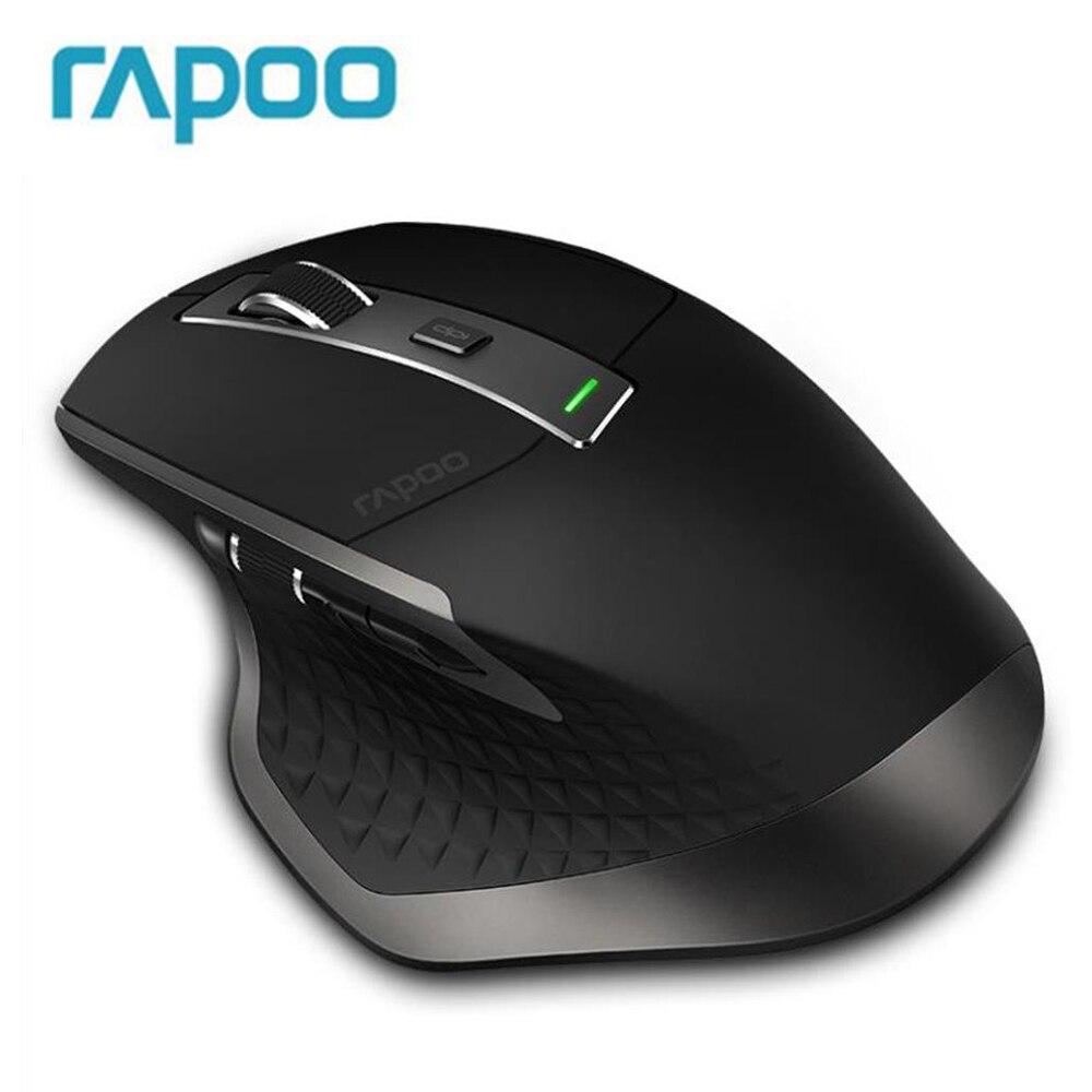 Новый Rapoo MT750 Перезаряжаемые Multi-mode Беспроводной Мышь переключаться между Bluetooth 3,0/4,0 и 2,4 г для четырех устройств связи