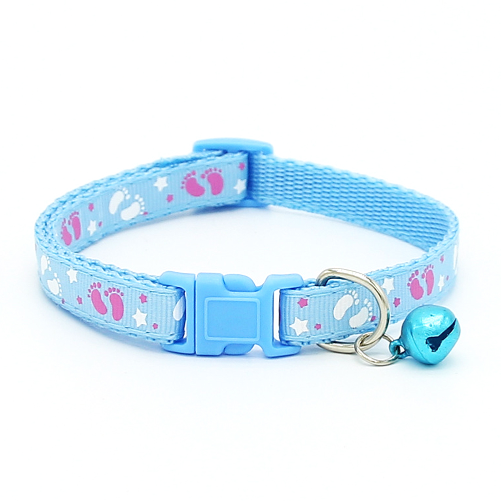 Cute Fashion Paws Pattern Pet Puppy Collars With Bell For Small Dogs Necklace