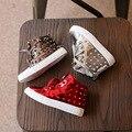 Лакированная Кожа PU Детская Обувь Высокий Верх Мода 2016 Весна Осень Девушки Шип Сапоги Мальчики Punk Обувь Заклепки Сапоги