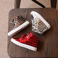 Patent Leather PU Kids High Top Fashion Shoes 2016 Spring Autumn Girls Stud Boots Boys Punk Shoes Baby Rivets Boots