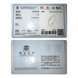 Image 5 - Czcity 100% 14 18kイエローゴールド小柄黒立方ジルコンの結婚指輪シンプルな薄型の円バンドリング罰金ジュエリービジュー
