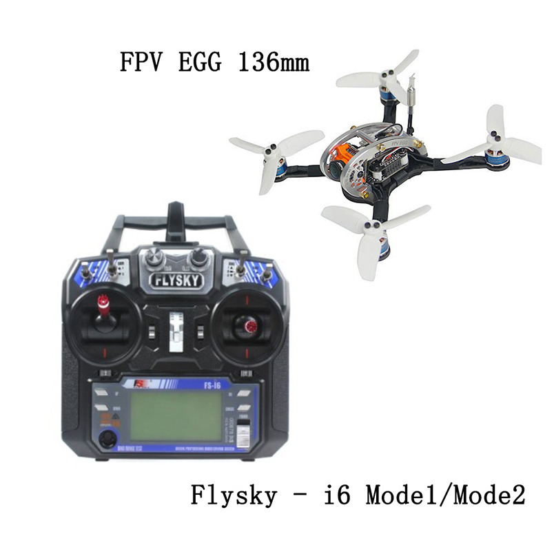 Mini FLYEGG 136mm Racer Hekicopter Wheelbase FPV Helicopter Updated with Micro Swift2 Camera FS-i6 RC Transmitter Controller