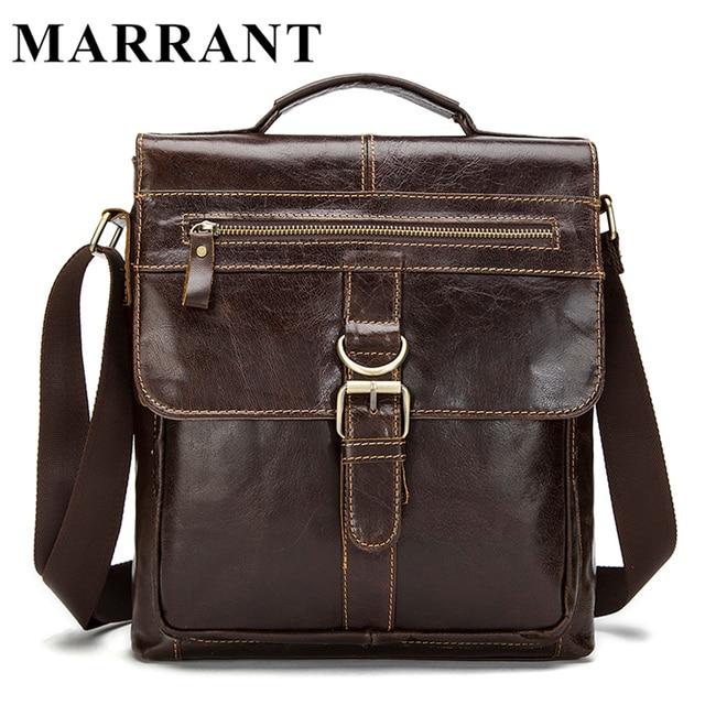419708318 MARRANT bolso mano hombre bolso cuero genuino hombres bandolera hombre  bolso hombro cremallera bolso mensajero hombre