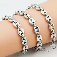Fashion Stainless Steel Byzantine Necklace Link Chain For Men AN029