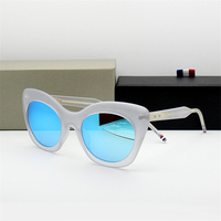 2018 New Arrival Vintage Cat's eye Sunglasses For Women Top Quality Round Sun Glasses Zonnebril Dames With Original Case