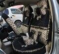 Rendas Leopard Universal Auto carro tampa de assento de veludo curto preto