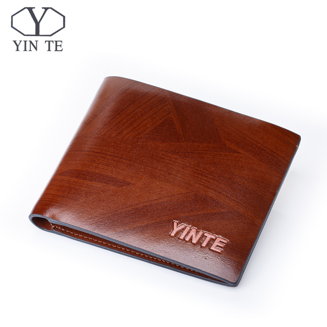 4bc4372debdbd YINTE Leather Wallet Men's Credit Card ID Holder Money Clip Purse Hard  Wallet Free Shipping Brown Wallet Portfolio T8842C-in Wallets from Luggage  & ...