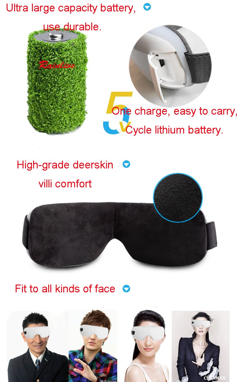 Eyes SPA Music SPA Electric Air pressure Eye massager . Wireless Vibration Magnetic heating therapy massage device. 28