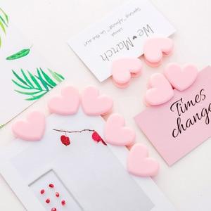 Image 4 - 最新の写真デコレーションアクセサリー愛のハート型のピンククランプ写真の背景の小道具固定写真クリップ