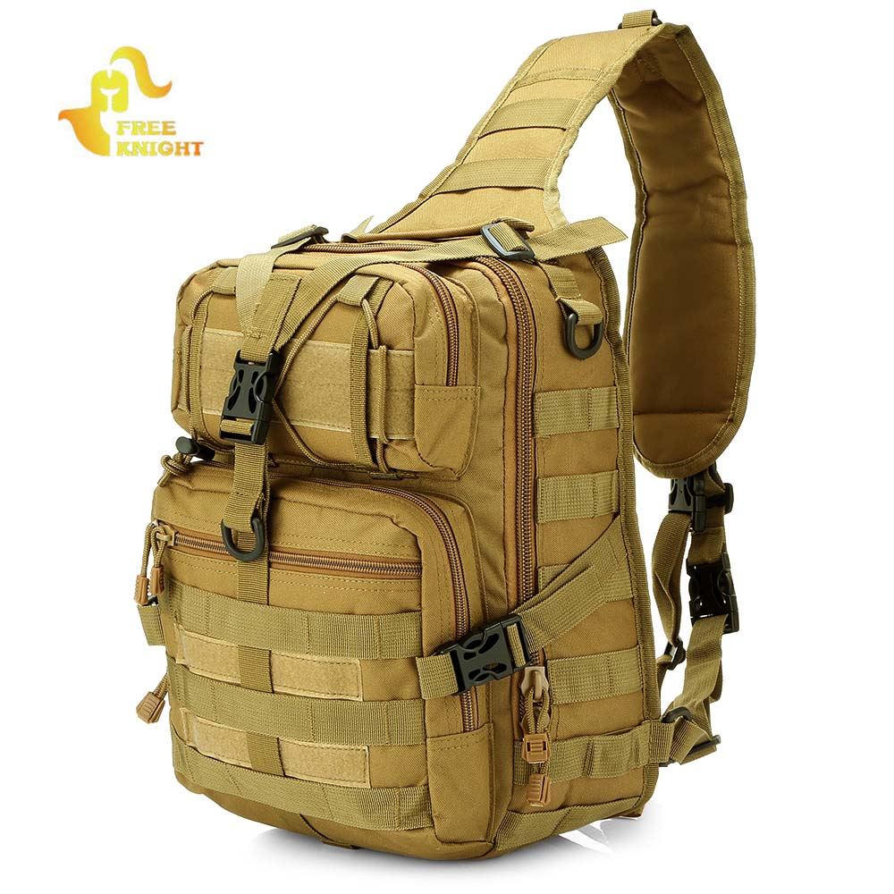 Free Knight 2018 New Outdoor Military Tactical Backpack Molle Army Shoulder Bag Camping Hiking Hunting Backpack Trekking Bag tactical outdoor double shoulder backpack bag army green