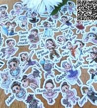 39 Pcs Beautiful girl cartoon Sticker For Luggage Skateboard Phone Laptop Moto Bicycle Wall Guitar Stickers/DIY Scrapbooking