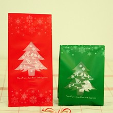 20pcs/lot 2 colors christmas tree plastic bags  packaging bags pouches wrappers cupcake  9.5x20cm цены