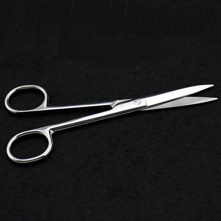 2pcs/lot Straight tip Stainless Steel Forceps, Surgical operating scissors for Laboratory/Animal/Hemostatic/Medical medical orthopedics instrument stainless steel rongeur forceps curved head scissors l type scissors medical ues scissors