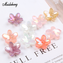 Acrylic Jelly Beads Flower Transparent Five Petals Jewelry Accessories Bracelets Women Handmade Hair Craft design Material