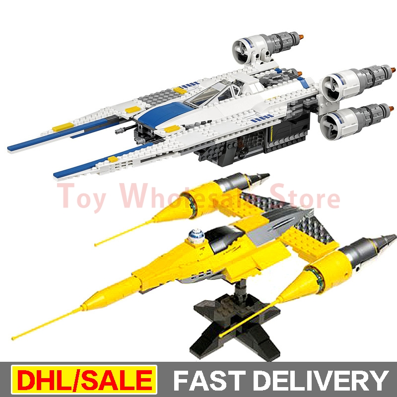 Lepin 05054 Star Wars Kits Rebel U-Wing Fighter + 05060 Naboo Style Fighter Set Building Blocks Bricks Toy Clone 75155 10026 star wars 187pcs lepin 05060 fighter set educational building blocks bricks toys model 10026 for children gifts