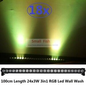 18xlot высокомощный светодиодный настенный светильник 100 см 24х3вт RGB 3в1 Светодиодный линейный планка освещения сцены в баре светильник с функц...