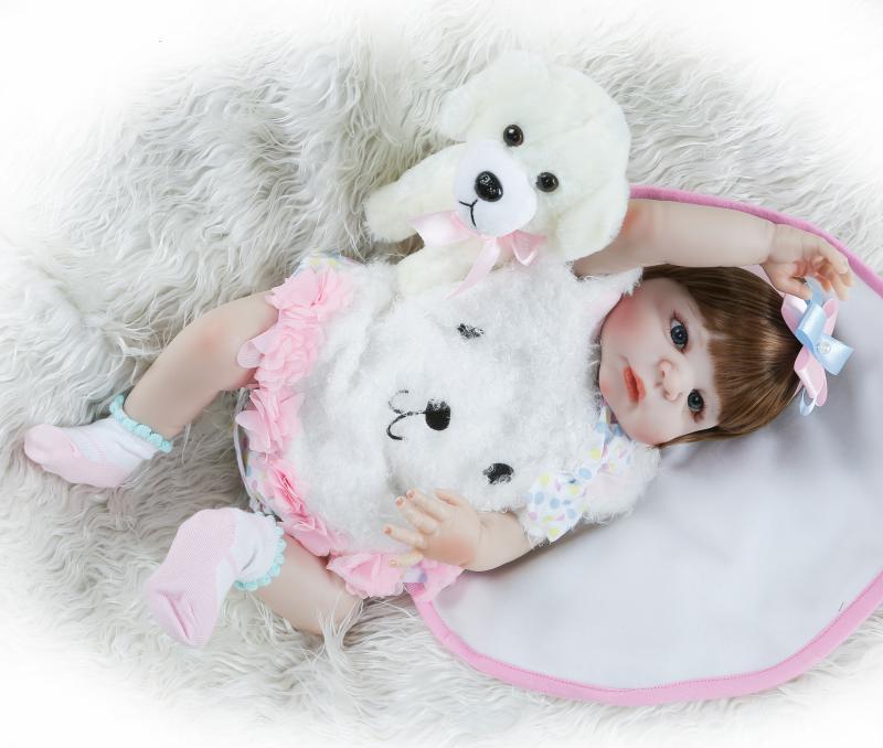 NPK 23 pollici bebe bambola reborn baby Realistica corpo Pieno di Silicone impermeabile lol boneca reborn corpo de silicone menina-in Bambole da Giocattoli e hobby su  Gruppo 3