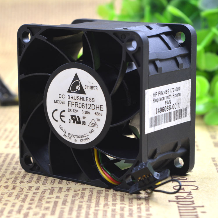 Free Delivery.12 v 3.3 A 6 cm / 6038 cm Violent big air volume fan FFR0612DHE server free delivery 9025 9 cm 12 v 0 7 a computer cpu fan da09025t12u chassis big wind pwm four needle